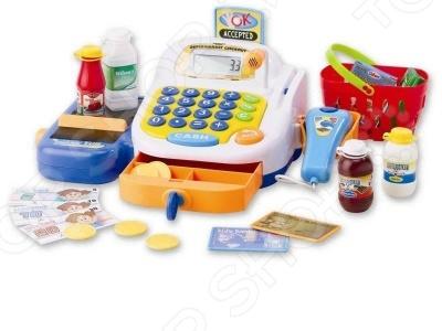 Игрушка музыкальная Keenway «Набор-супермаркет: кассовый аппарат, микрофон, продукты» keenway касса 30262 pink