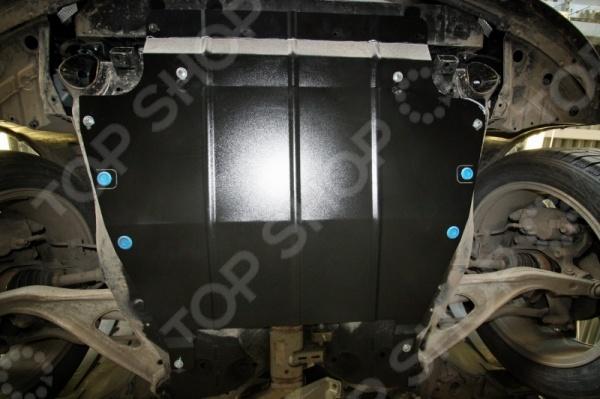 Комплект: защита картера и крепеж Novline-Autofamily Nissan Pathfinder 2014: 3,5 бензин, вариаторЗащита картера двигателя<br>Надежная защита двигателя от сильных ударов и механических повреждений это первое о чем должен подумать любой автовладелец. Так как дороги иногда преподносят неожиданные сюрпризы в виде кочек, глубоких ям и ухабов, двигатель может пострадать от малейшего удара на высокой скорости. Комплект: защита картера и крепеж Novline-Autofamily Nissan Pathfinder 2014: 3,5 бензин, вариатор станет незаменимым дополнением для вашего автомобиля, которое надежно защитит узлы и другие агрегаты авто, расположенные в нижней части кузова или под капотом. Данный комплект разработан с учетом всех особенностей российских дорог, поэтому обеспечивает высокий уровень безопасности как во время движения, так и во время простоя. Данный комплект имеет несколько основных особенностей, которые выгодно отличают его от имеющихся аналогов на российском рынке:  специальное порошковое покрытие обеспечивает высокую защиту всех металлических поверхностей от воздействия коррозии, царапин и других механических повреждений;  крепежные элементы с оцинкованной поверхностью устойчивы к воздействию агрессивной внешней среды, антигололедных реагентов, что исключает заедание резьбы и уменьшает риск ржавления в месте соединения с кузовом;  резиновые вставки предотвращают возникновение вибраций и посторонних шумов, что делает движение на скорости ещё более безопасным и комфортным;  для более удобного обслуживания предусмотрены технологические отверстия, которые закрываются специальными заглушками. Благодаря тому, что защита картера разрабатывается индивидуально для каждого автомобиля, в данном случае для марки Nissan модели Pathfinder 2014, процесс установки и эксплуатации не вызовет никаких проблем. Другое преимущество данного комплекта заключается в использовании современной технологии 3D-сканирования, за счет которой достигается высокий уровень подгонки защитных аксессуаров. Также при произ
