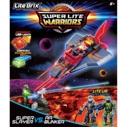 фото Конструктор игровой со световыми эффектами Lite Brix «Битва. Самолет-убийца»