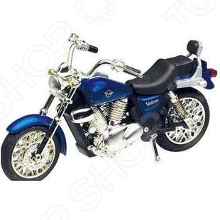 Модель мотоцикла Motormax Kawasaki VulcanМодели авто<br>Модель мотоцикла Motormax Kawasaki Vulcan это точная уменьшенная копия настоящего мотоцикла Kawasaki Vulcan. Все детали в точности повторяют контуры реального мотоцикла. Главная особенность этой модели в качестве ее исполнения. Все детали выполнены из прочного пластика и металла. Эта модель по детализации максимально приближена к оригиналу. У мотоцикла есть несколько хромированных деталей и резиновые покрышки. Такой мотоцикл станет хорошим дополнением любой коллекции.<br>