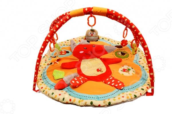 Развивающий коврик Roxy-Kids с дугами «Лисичка и ее друзья» roxy kids развивающий коврик лисичка и ее друзья с дугами roxy kids