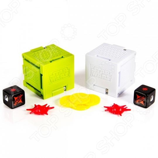 Набор игровой для мальчика Spin Master «Боевые кубики» 52101. В ассортиментеИгровые наборы для мальчиков<br>Товар продается в ассортименте. Цвет изделия при комплектации заказа зависит от товарного ассортимента на складе. Набор игровой для мальчика Spin Master Боевые кубики 52101 включает в себя два боевых кубика. Это увлекательная стратегическая игра для юных любителей знаменитой саги Звездные войны . В собранном виде это куб с длиной ребра 4 сантиметра. Если кубик разложить, то получится настоящее игровое поле с тематическими миниатюрами. В набор также входят карта для игры и игровые кости.<br>