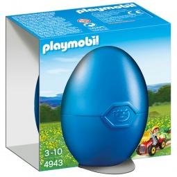 фото Конструктор для ребенка Playmobil «Яйцо: Мальчик на детском тракторе»