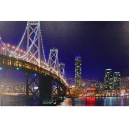 Купить Картина с подсветкой Bradex «Огни мегаполиса»