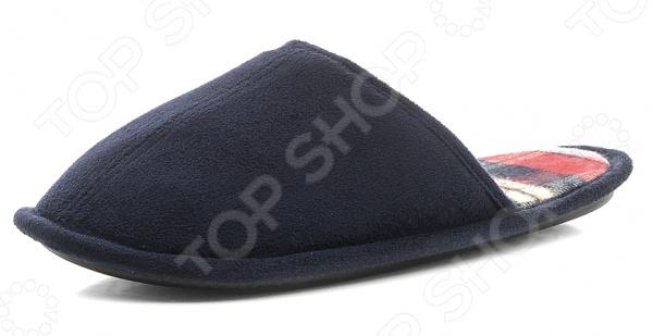 Тапочки домашние мужские Burlesco H147. Цвет: синийМужская домашняя обувь<br>Тапочки мужские Burlesco H147 это не только практичная и удобная, но и стильная обувь для дома. Представленная модель прекрасно подойдет для ежедневной носки. Тапочки с закрытым мыском отличный выбор для холодного времени года. Тапочки мужские Burlesco H147 выполнены из смеси натурального хлопка и полиэстера. Данные материалы отлично зарекомендовали себя в пошиве домашней обуви, благодаря мягкости, воздухопроницаемости и износостойкости. Стелька изготовлена из высококачественного текстиля, поэтому вам будет комфортно и уютно. Рельефная поверхность подошвы предотвратит скольжение по полу.<br>