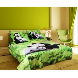 Купить Комплект постельного белья Buenas Noches Semeika Pandi. Satin Fotoprint. 2-спальный