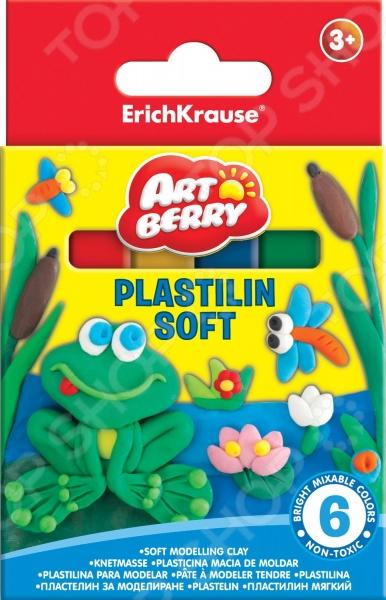 Набор пластилина Erich Krause 33297Лепка из пластилина<br>Набор пластилина Erich Krause 33297 предназначен для таких маленьких, но уже таких любознательных малышей. В яркой коробке находятся 6 брусочков пластилина разного цвета, из которых ваш ангелочек сможет слепить буквально все, что захочет. Пластилин крайне пластичен, не липнет к рукам и не высыхает на открытом воздухе. Представленный набор нетоксичен и абсолютно безопасен для здоровья. Лепка развивает усидчивость, фантазию, образное восприятие и логическое мышление. Кроме того, у ребенка тренируется зрительная координация и мелкая моторика рук. Не упустите шанс порадовать юного мастера замечательным подарком! Вес одного бруска составляет 15 граммов. Набор поставляется в картонной коробке с европодвесом.<br>