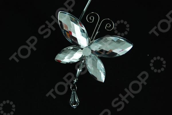 Новогоднее украшение Crystal Deco «Бабочка» 1707683 новогоднее украшение crystal deco шар перламутровый