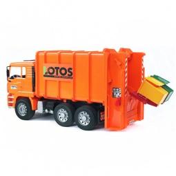 фото Машинка игрушечная Bruder «Мусоровоз» MAN 02-762. Цвет: оранжевый