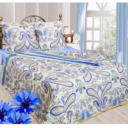 фото Комплект постельного белья Сова и Жаворонок «Индиго». 1,5-спальный. Размер наволочки: 70х70 см — 2 шт