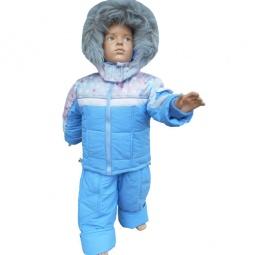 Купить Комплект для мальчиков: куртка, жилет и полукомбинезон Даримир Winter. Цвет: голубой