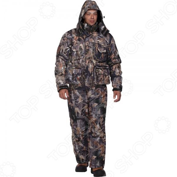 Костюм для охоты зимний NOVA TOUR Гриф v.2 предназначается для использования в холодное время года и способен защитить своего хозяина от морозов до -25 C. Модель отлично подходит для зимней охоты, так как костюм не шуршит и отлично отводит влагу. Рукава обладают плотными манжетами, а брюки оканчиваются защитной муфтой, которая препятствует попаданию воды, снега, а также задуванию холодного воздуха. Полукомбинезон свободного кроя имеет съемную спинку, шлевки под широкий поясной ремень и удобную регулировку лямок по росту, а большое количество карманов разного размера позволяет унести с собой все необходимое. Кроме того, брюки можно затянуть по ширине ноги или наоборот, накрыть сверху ботинки. Модель отличается от своего предшественника меньшим весом при сохранении всех теплоизоляционных свойств, что было достигнуто за счет использования современных материалов. Ткань трикот, а в качестве утеплителя используется Термо МАКС.