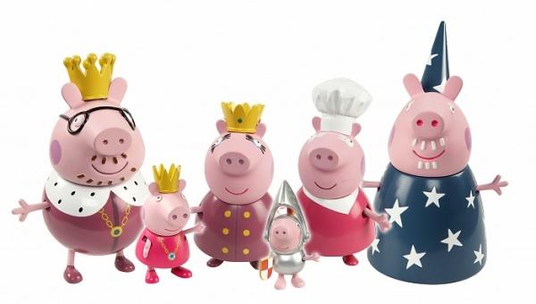Набор подвижных фигурок Intertoy «Королевская семья Пеппы» набор кухня пеппы со светом и звуком свинка пеппа