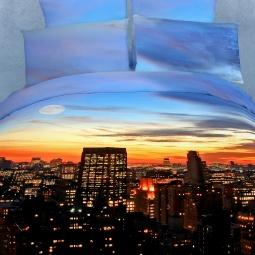 фото Комплект постельного белья Buenas Noches New York. Satin Fotoprint. Евро