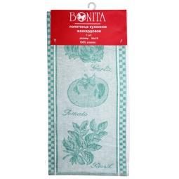 фото Полотенце BONITA «Помидор, базилик, чеснок». Цвет: зеленый