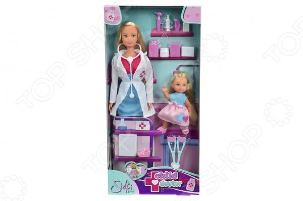 Кукла с аксессуарами Simba Штеффи-врач и Еви на костылях
