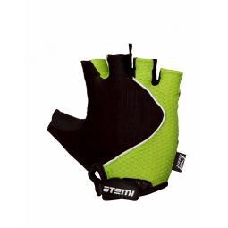 фото Перчатки велосипедные эргономичные Atemi AGC-02. Цвет: зеленый. Размер: XL