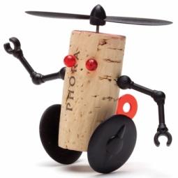 Купить Декор для винной пробки Monkey Business Corkers Robots Вилли