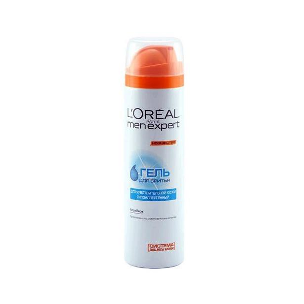 фото Гель для бритья Loreal Men expert гипоаллергенный