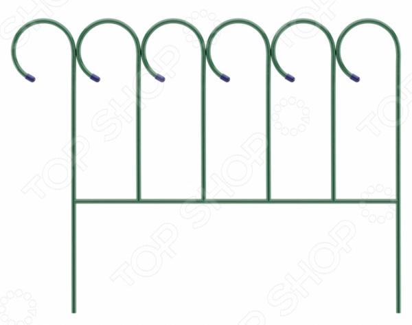 Забор декоративный «Барашек» 65041Декоративные ограждения для сада<br>Забор декоративный Барашек 65041 замечательный аксессуар, который украсит ваш дачный участок. Такой забор идеально подойдет для ограждения грядок, газонов, клумб и палисадников. Ажурное кованое обрамление делает изделие еще более органичным и уютным. Применение декоративного забора придаст вашим посадкам законченный и органичный вид, наполнит дачный участок невероятным уютом и комфортом. Размер 0,7х0,9м.<br>