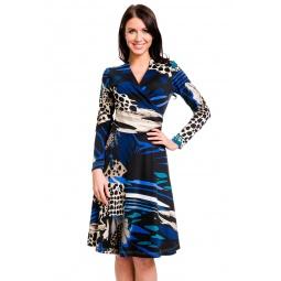фото Платье Mondigo 25079. Цвет: синий. Размер одежды: 48