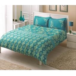 фото Комплект постельного белья TAC Catrin. 1,5-спальный. Цвет: голубой