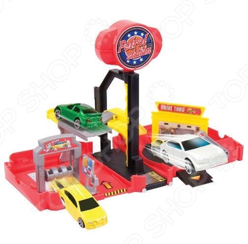 Игровой набор Motormax «Мини-заправочная станция» motormax motormax грузовик для перевозки автомобилей с 3 машинками