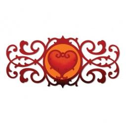 фото Набор форм для вырубки Sizzix Thinlits Die Декоративный края и сердечко