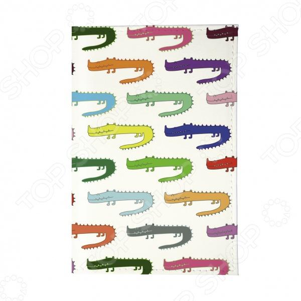 Обложка для паспорта Mitya Veselkov «Цветные крокодилы»