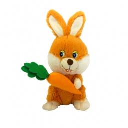 фото Мягкая игрушка интерактивная Maxi Play «Зайка с морковкой»