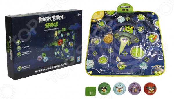 Коврик-дартс музыкальный 1 Toy Angry Birds