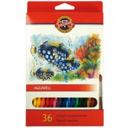фото Набор карандашей акварельных Koh-I-Noor «Рыбки»: 36 цветов