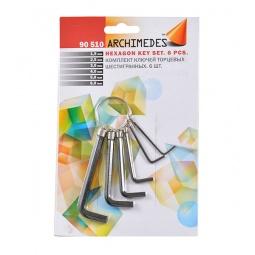 Купить Набор ключей торцевых шестигранных Archimedes 90510: 6 шт.