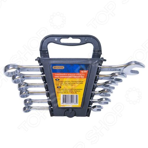Набор ключей комбинированных Brigadier 52134, 8 шт. force 5121 набор комбинированных ключей 8 23 мм