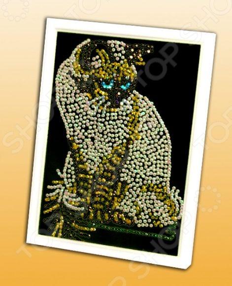Мозаика из пайеток Волшебная мастерская «Кошка» 019 волшебная мастерская мозаика из пайеток улитка