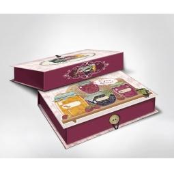 фото Шкатулка-коробка подарочная Феникс-Презент «Варенье». Размер: M (20х14 см). Высота: 6 см