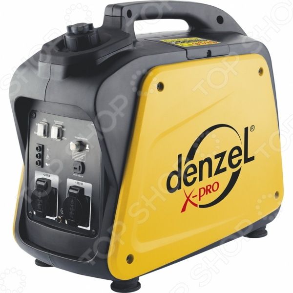 Генератор инверторный Denzel GT-2100i X-ProБензиновые генераторы<br>Генератор инверторный Denzel GT-2100i X-Pro устройство, используемое для автономного снабжения электроэнергией бытовой техники, строительных инструментов, осветительных приборов и электроники в условиях отсутствия электричества в общей сети питания. Инверторный генератор также применяется для приборов, предъявляющих высокие требования к потребляемой энергии. В основном, это цифровые устройства, серверное хозяйство, газовые котлы. Одни из основных преимуществ генератора компактность и портативность, за счет чего устройство не занимает много места и может быть легко транспортировано. Генераторы инверторного типа отличаются высокой эффективностью работы и отсутствием скачков напряжения. Схемы управления электронные, поэтому такие генераторы иногда называют цифровыми. Также необходимо отметить низкий шумовой эффект во время работы устройства за счет наличия глушителей кожухов . Такая модель генератора идеально подойдет для обеспечения электроэнергией некоторых приборов на дачных участках. Его также можно взять с собой в поездку или использовать в качестве источника питания во время ремонта.<br>