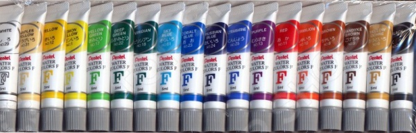 Акварель Pentel Pentel Water Colours: 18 цветов