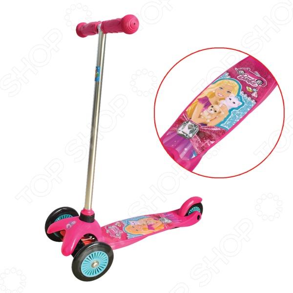 Самокат трехколесный 1 Toy Т57618 «Barbie» самокат трехколесный barbie 1toy