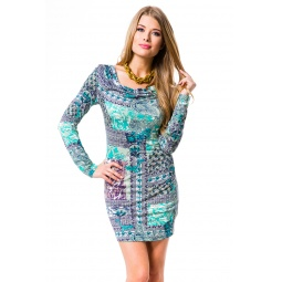 фото Платье Mondigo 8656. Цвет: бирюзовый. Размер одежды: 42