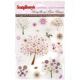 фото Набор штампов прозрачных ScrapBerry's Фантазийные деревья