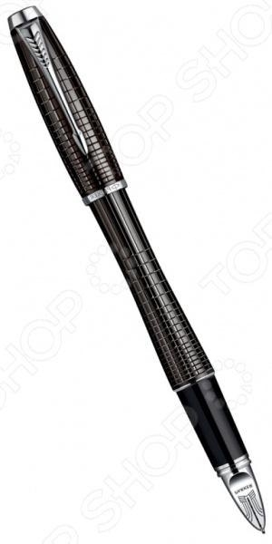 Ручка 5-й пишущий узел Parker Urban Premium F504 Ebony Metal Chiselled