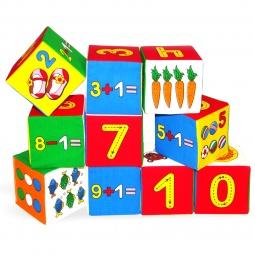 Купить Кубики обучающие мягкие Мякиши «Умная математика»