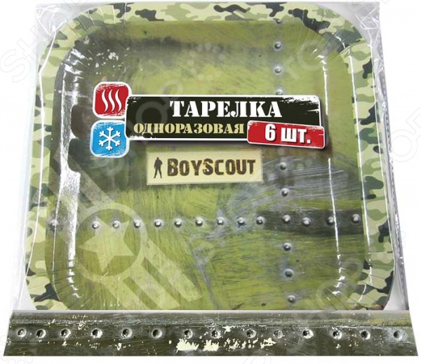Набор тарелок одноразовых Boyscout 61701 Набор тарелок одноразовых Boyscout 61701 /