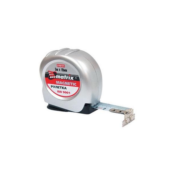 фото Рулетка MATRIX Magnetic. Длина: 7,5 м. Ширина: 25 мм