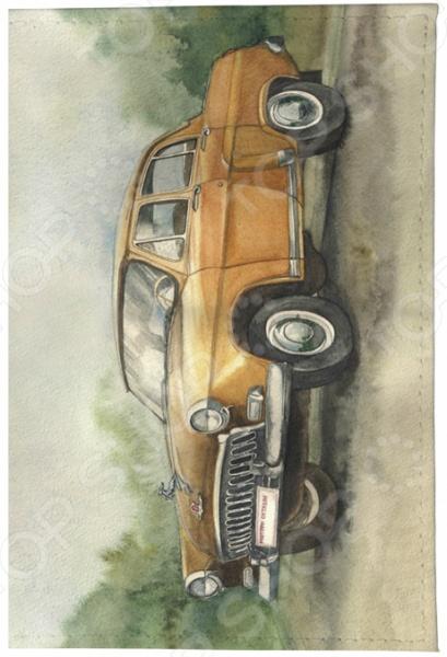 Обложка для паспорта кожаная Mitya Veselkov «ГАЗ»