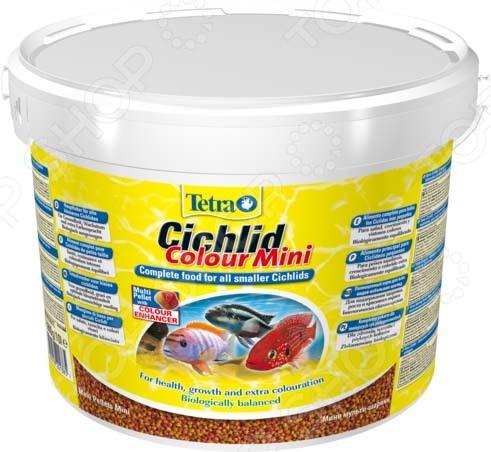 Корм для всех видов цихлид Tetra Cichlid Colour Mini