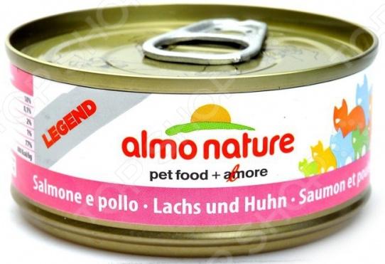 Корм консервированный для кошек Almo Nature Legend «Лосось»