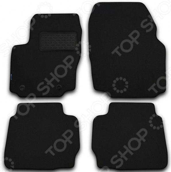 Комплект ковриков в салон автомобиля Novline-Autofamily Volvo XC60 2008 внедорожник. Цвет: черный