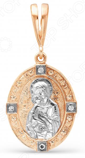 Фото - Подвеска «Владимирская Божья Матерь» 5467277Дч подвеска иконка божья матерь владимирская с эмалью из красного золота